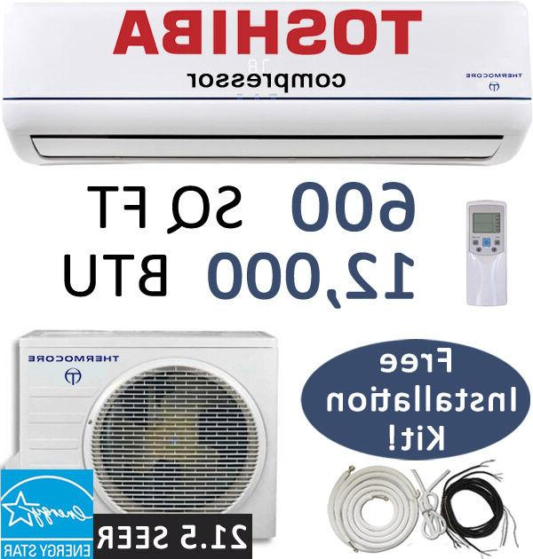 12000 BTU 21.5 SEER Inverter Ductless Mini Split Air Conditi