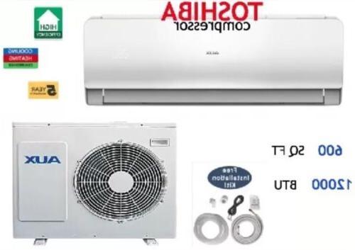 12000 BTU Ductless Conditioner, Mini Split 1 w/