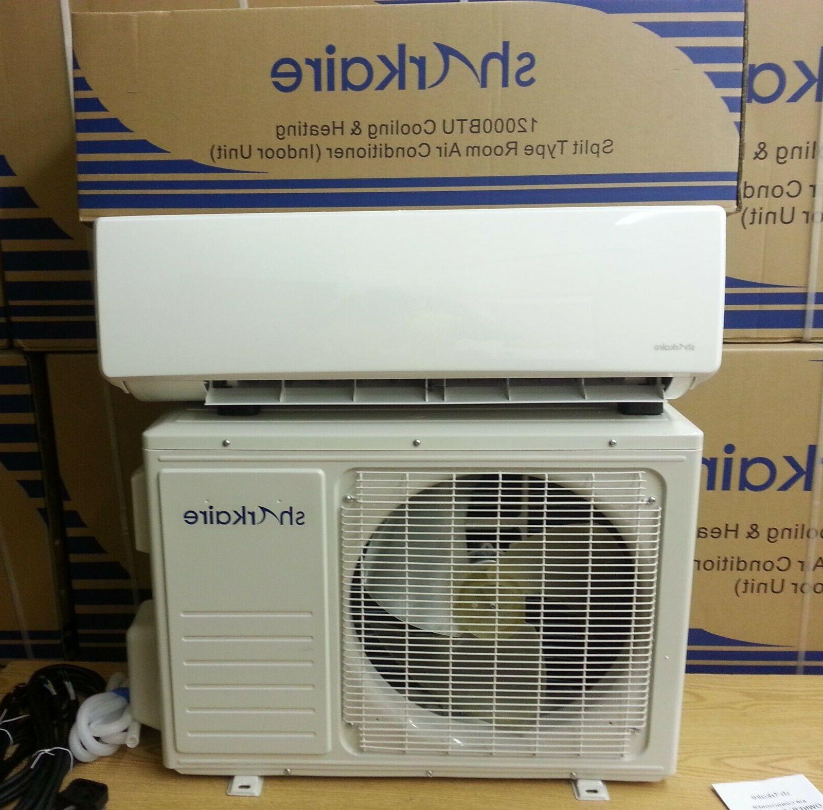 12000 BTU Mini Split Air Conditioner with Heat Pump Remote a