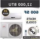 12000 BTU Mini Split Air Conditioner Heat Pump Ductless AC H