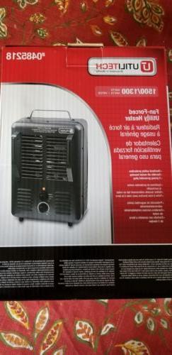 1300-Watt 1500-Watt Portable Utility Fan space  Heater with