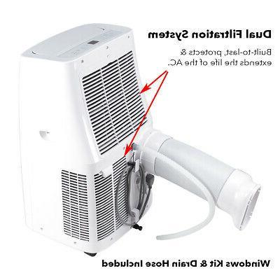 12000 BTU Portable Conditioner Dehumidifier Pint/Day Vent