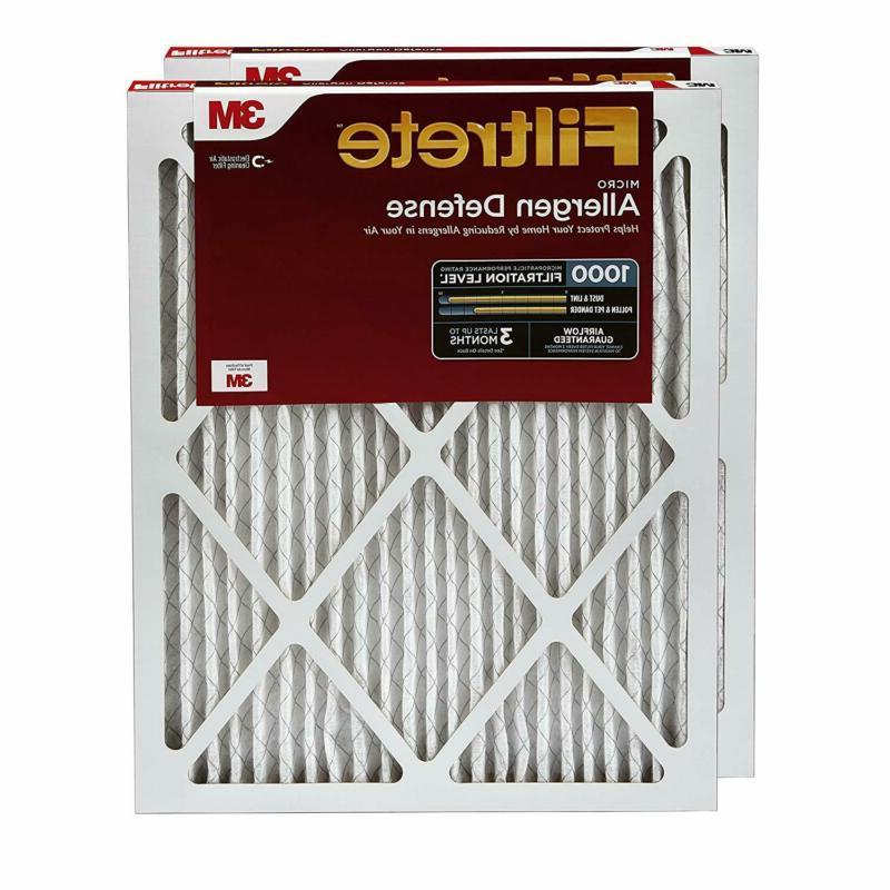 16x25x1 ac furnace air filter mpr 1000