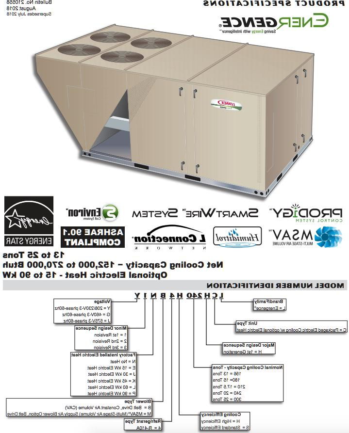 LENNOX 17.5 TON COOL ONLY PACKAGE UNIT 230V 3PH AIR CONDITIO