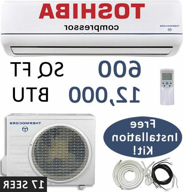 17 SEER - 12000 BTU Ductless Air Conditioner, Heat Pump Mini