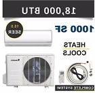 18000 BTU Mini Split Air Conditioner Heat Pump Ductless Klim