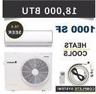 18000 BTU Mini Split Air Conditioner Heat Pump Ductless AC H