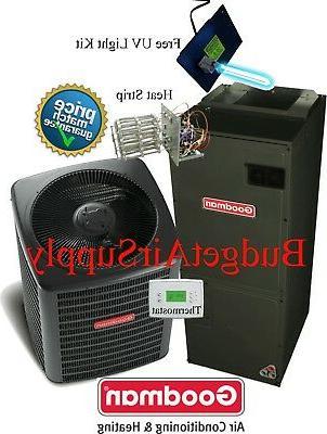 3 ton 16 SEER Goodman Heat Pump System GSZ160361+ASPT37C14+T