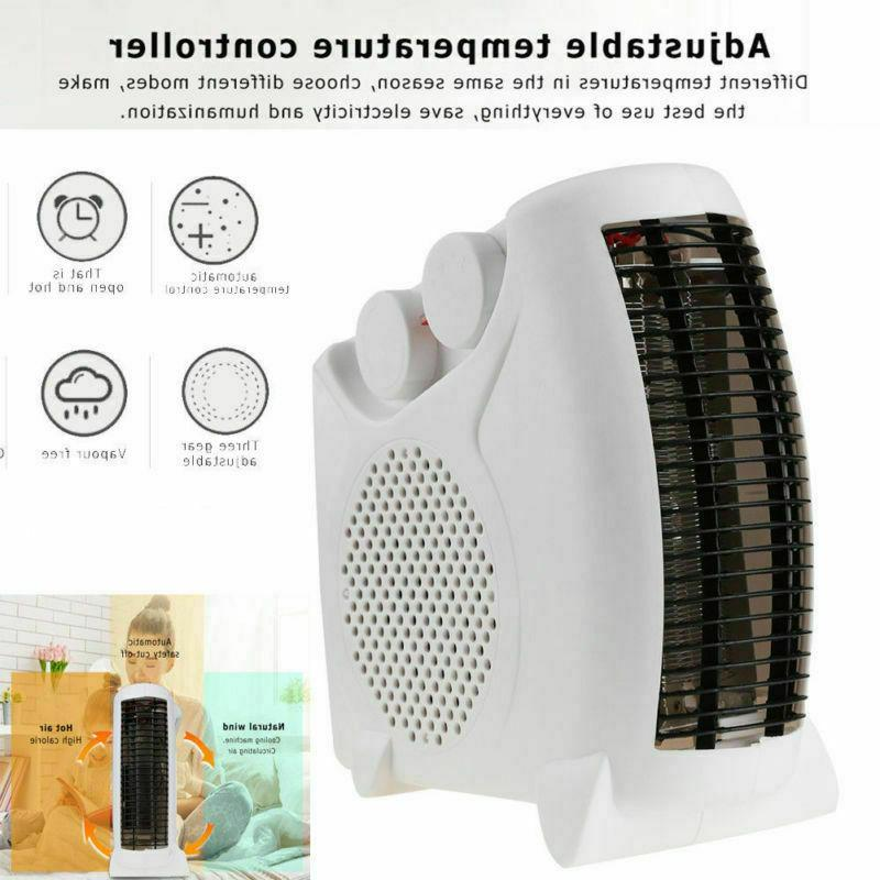 Portable Silent Electric Fan Heater Thermostat Flat/Upright
