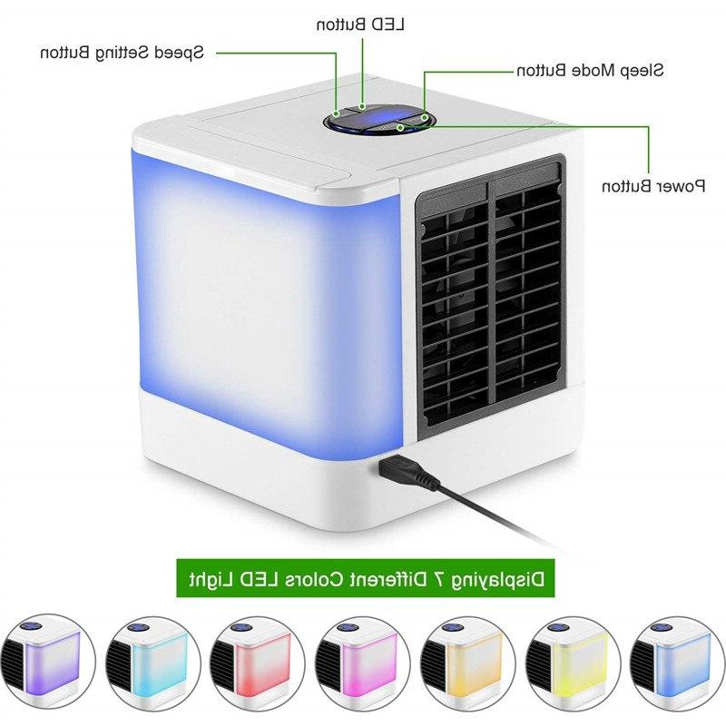 2020 New <font><b>Air</b></font> <font><b>Conditioner</b></font> Portable Fan For Device Color Lights