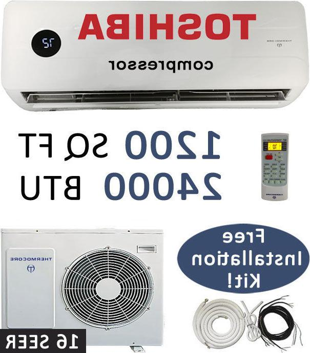 24,000 BTU Ductless Air Conditioner, Heat Pump Mini Split: 1