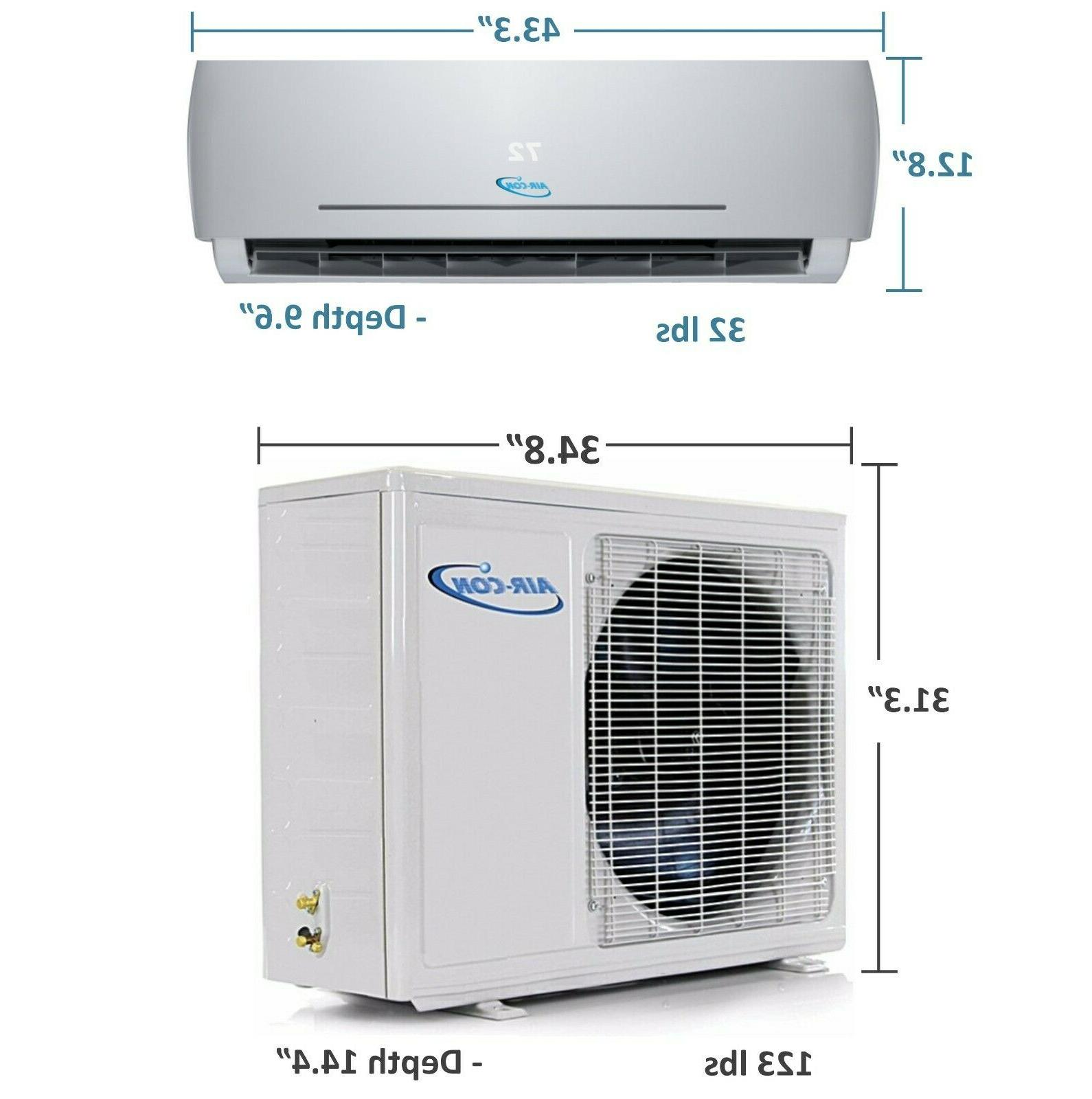 24000 SEER - Ductless Split Heat Pump 2 Ton