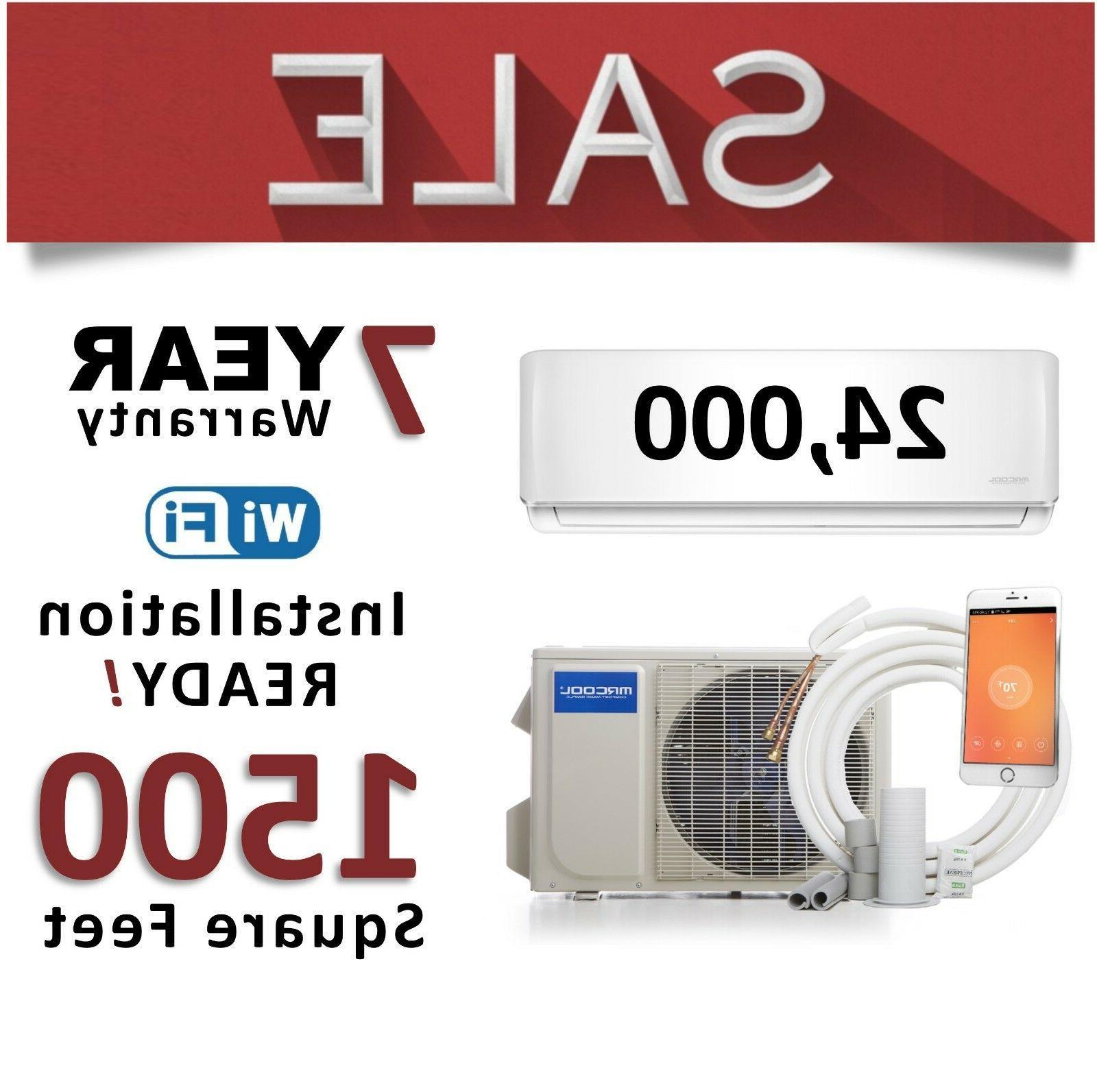 24000 BTU Mini Split Air Conditioner Ductless AC Heater Inve