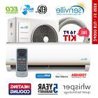 24000 BTU Ductless AC Mini Split Air Conditioner and Heat Pu
