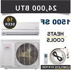 24000 BTU Mini Split Air Conditioner Heat Pump Ductless AC H
