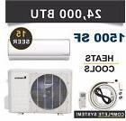 24000 BTU Mini Split Air Conditioner Heat Pump Ductless Klim