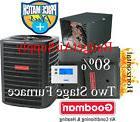 3.5 Ton Goodman 14.5 seer 80% 80K btu TWO STAGE HORIZONTAL G