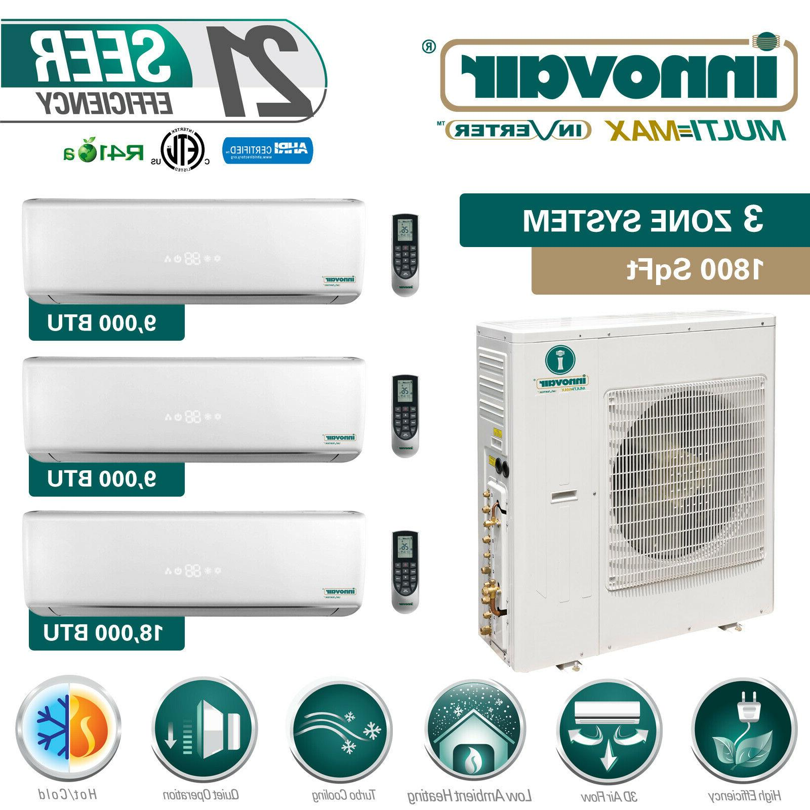 36000 btu tri zone ductless mini split