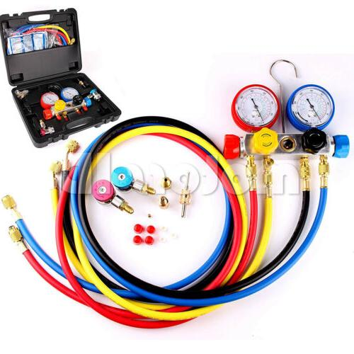4 way ac diagnostic manifold gauge set