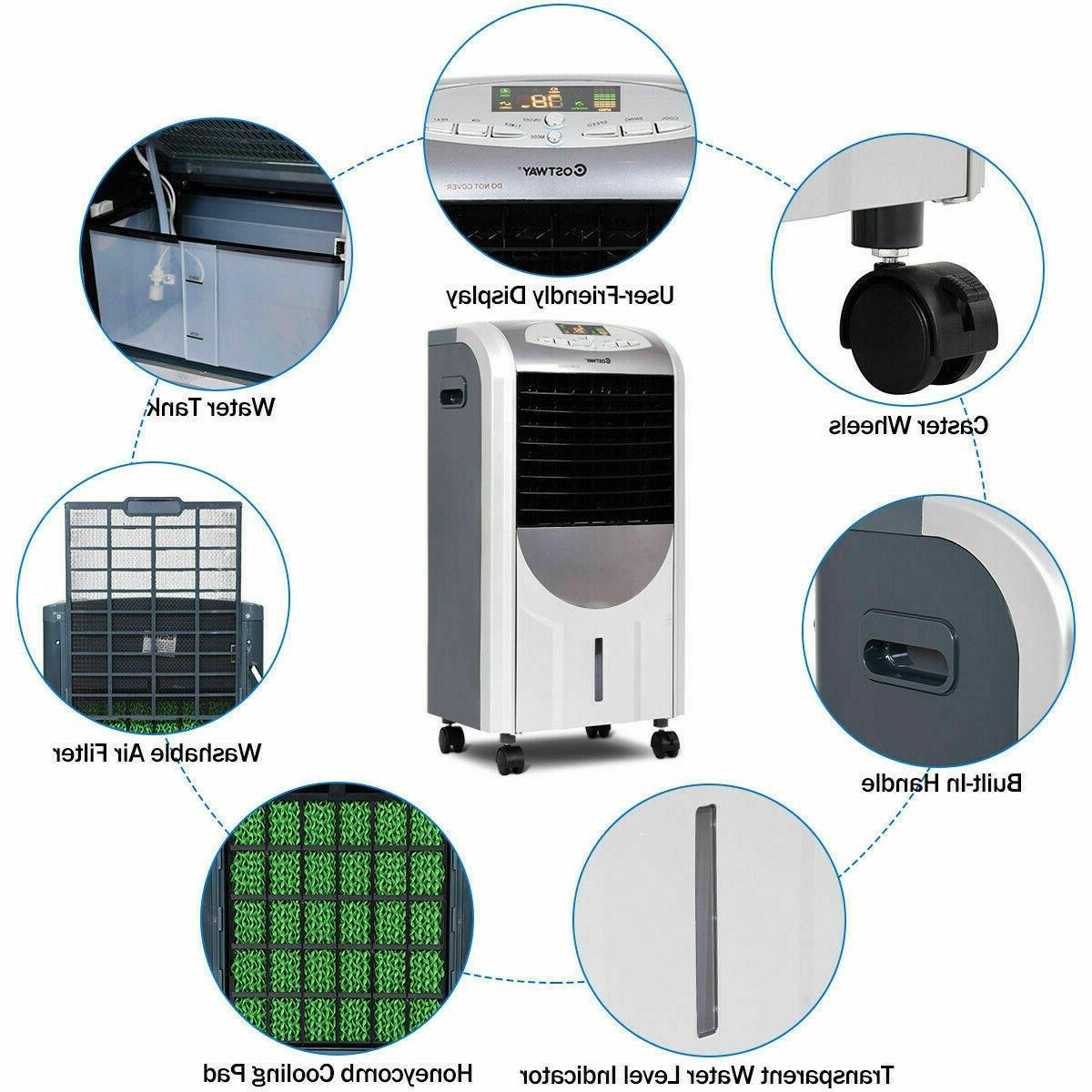 5 Portable Conditioner Fan & Heater Remote Control