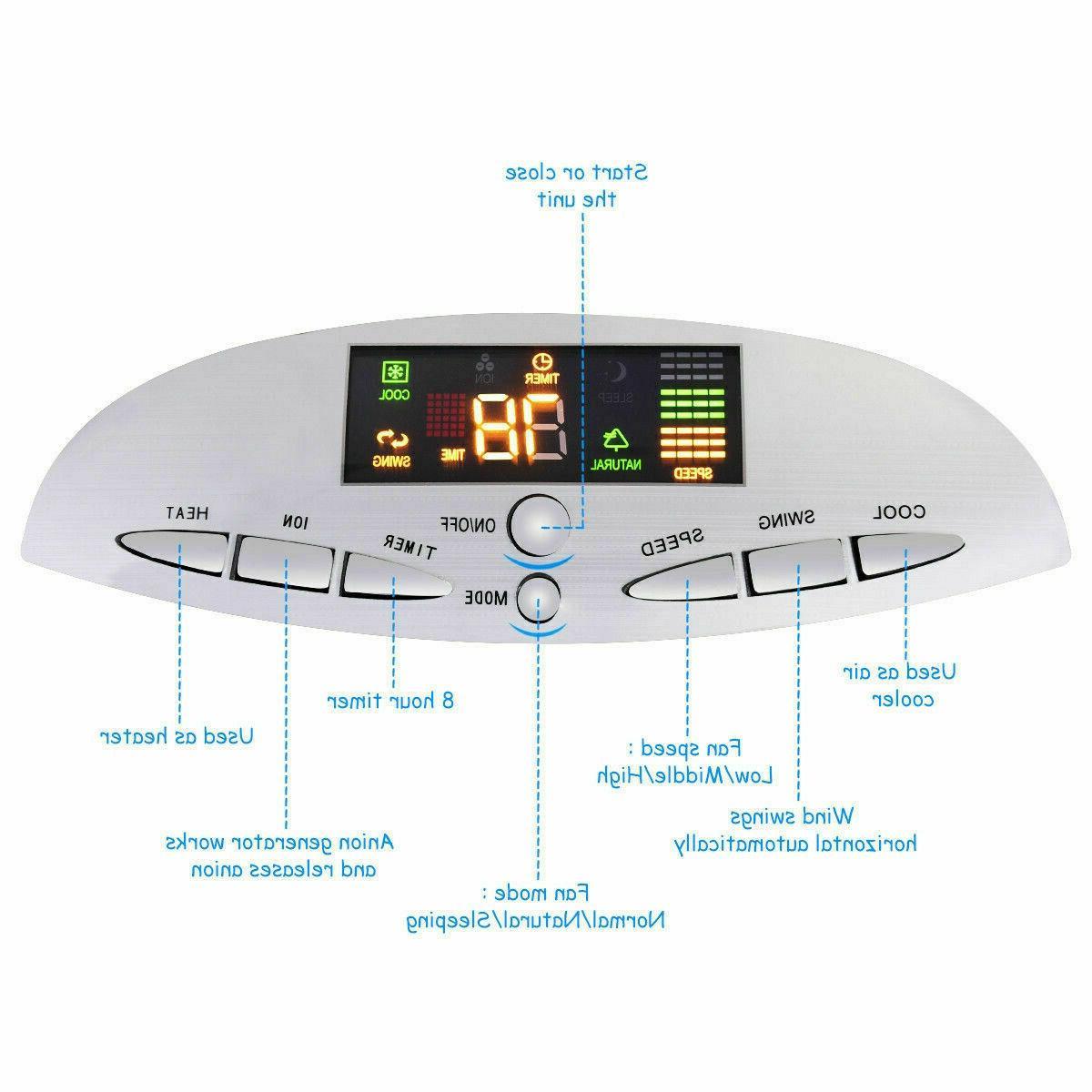 5 in Portable Air Fan Remote Control