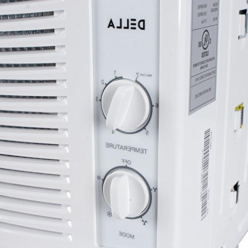 DELLA 5,000 Window-Mounted Air AC Cool 115-Volt 150 SQ Mechanical