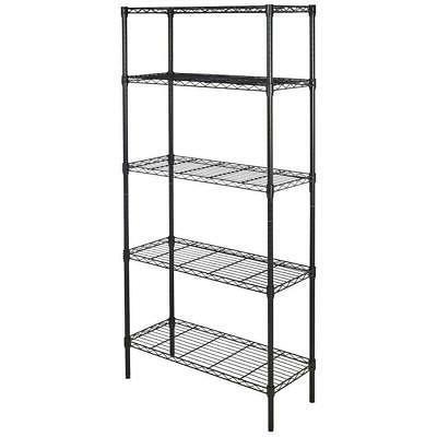 5 Tier Garage Storage Metal Rack Shelving Shelves Unit Stand