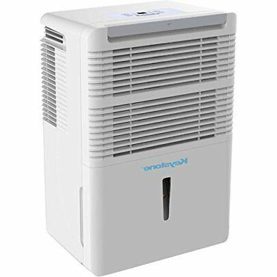 Keystone 70 Pt. Dehumidifier with Built-In Pump White