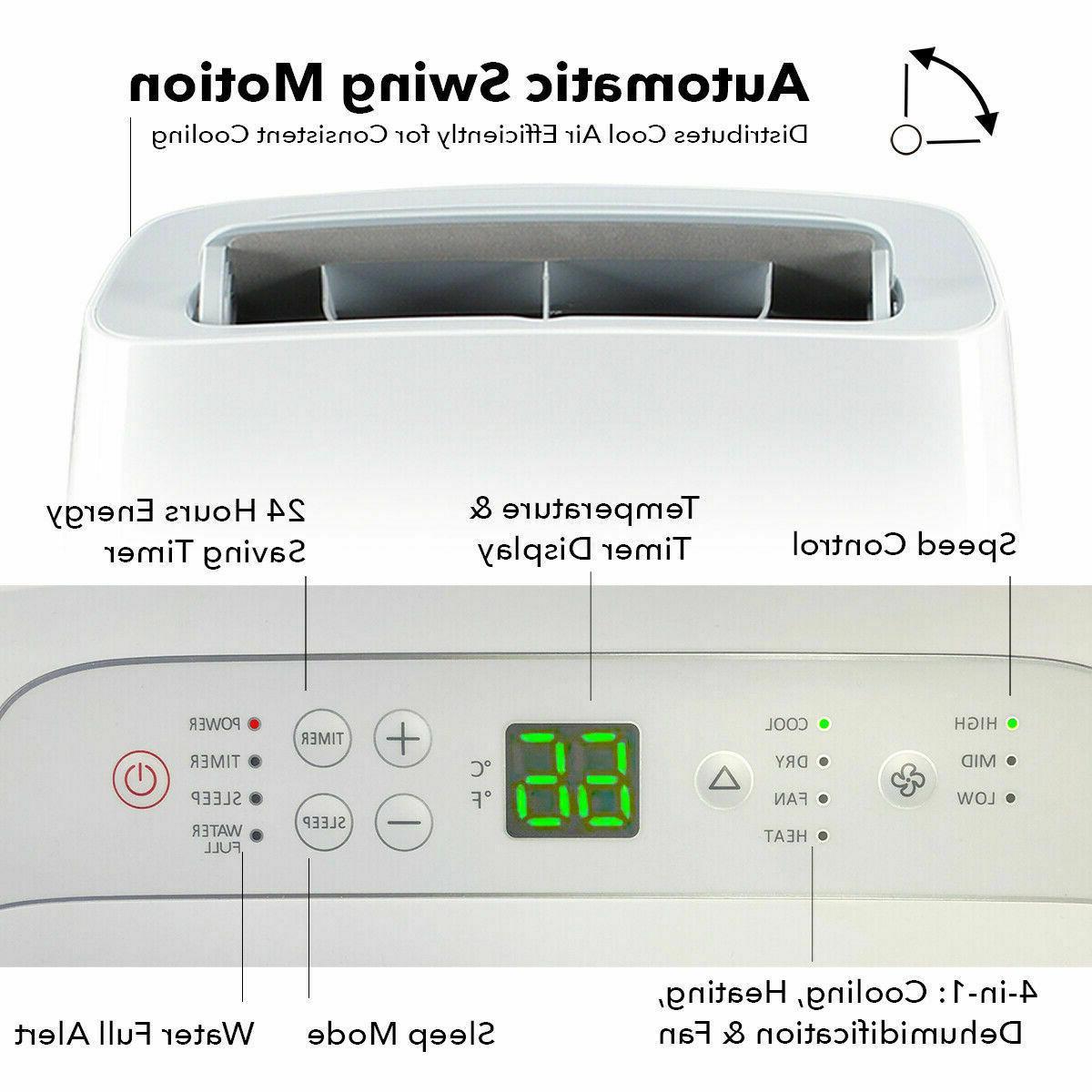 700 Sq.Ft 14000BTU Air + 1050W Heater 111 Dehumidifier