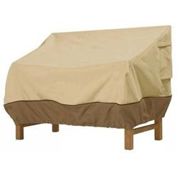 Classic Accessories 70982 Sofa Loveseat Cover - Tan Trim