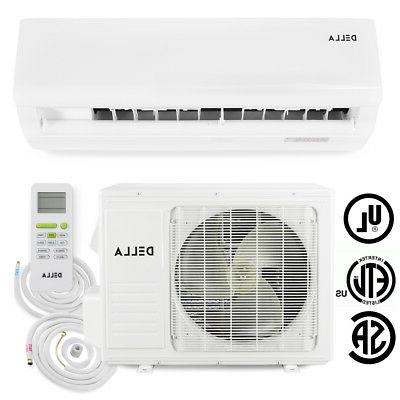 DELLA 9,000 15.5 SEER Mini Split Heat Inverter Air Conditioner w/ Installation