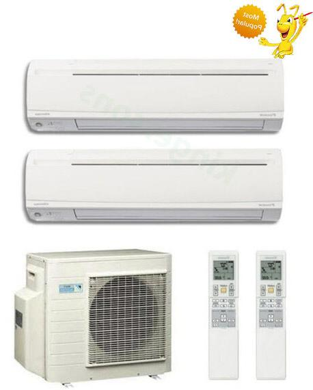 9000 9000 btu dual zone ductless wall