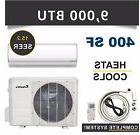 9000 BTU Mini Split Air Conditioner Heat Pump Ductless Klima