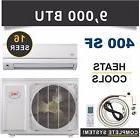 9000 BTU Mini Split Air Conditioner Heat Pump Ductless AC He