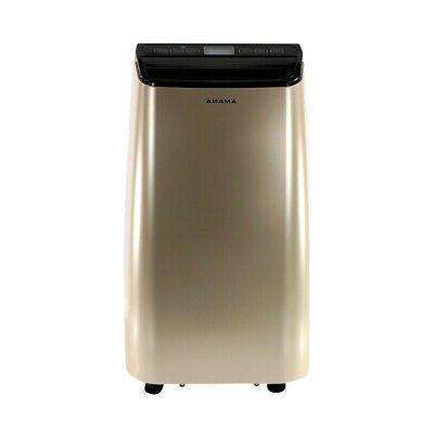 Amana - 12,000 BTU Portable Air Conditioner - Black/Gold