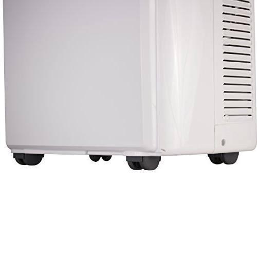 BTU Air Conditioner Unit, Window 4 Caster Wheels, White