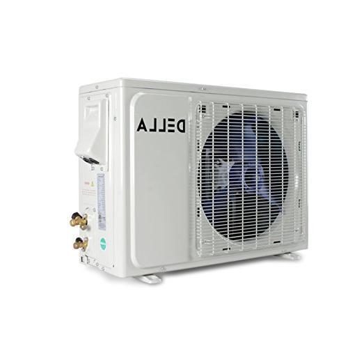 DELLA 18,000 BTU Wall Mini System Certified Inverter Remote Air w/Heat Pump