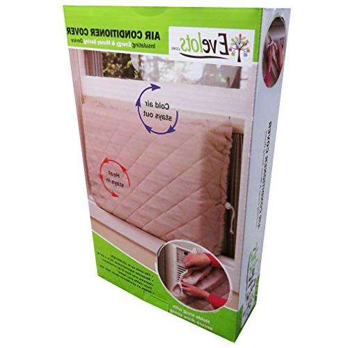 Evelots Window Air Cover-Indoor-Quilted-Heat