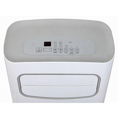 Keystone - 12,000 Portable Air Conditioner - White/gray
