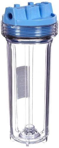 """Pentek 158116 1/4"""" #10 Slim Line Clear Filter Housing"""