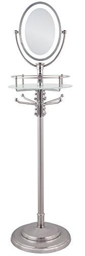 Zadro Cordless LED Lighted Adjustable Height Floor Stand Mir