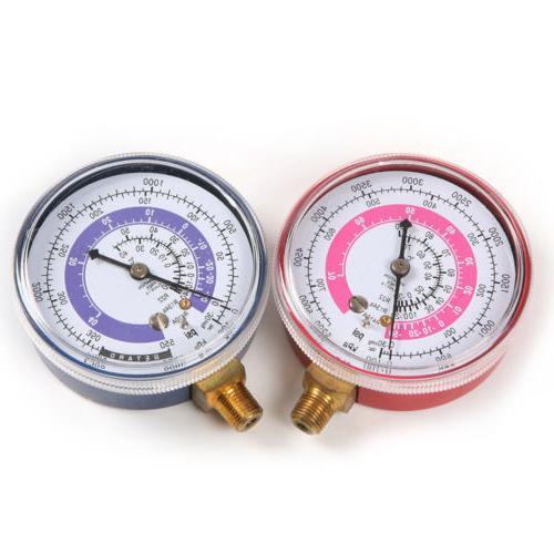 A/C R134A R22 Refrigerant Low&High Pressure Gauge