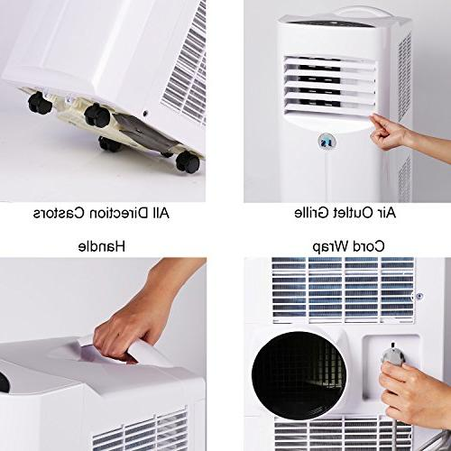 JHS 10,000 BTU Portable AC A001-10KR/D Remote Control with and 2 Fan