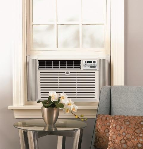 "GE AEM06LX 19"" Air Conditioner Cooling BTU, Qualified Cool Gray"