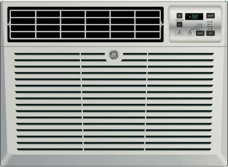"GE AEM08LX 19"" Window Air Conditioner with 8000 Cooling BTU,"