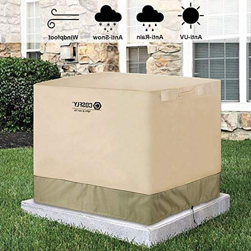 COSFLY Conditioner for Outside Cover Resistant Windproof -Square Fits up 36 36