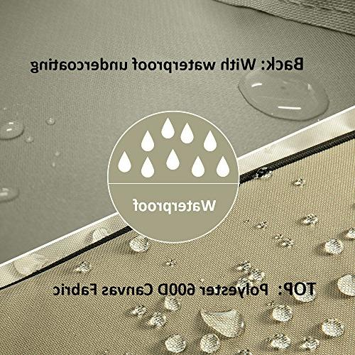 COSFLY Air Conditioner Cover for Outside Units-Durable Cover Water Resistant Windproof Design -Square Fits up to 36 36 x