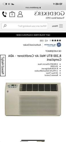 GE AJEQ08ACF 8,200 BTU Thru-the-Wall Air Conditioner with 3,