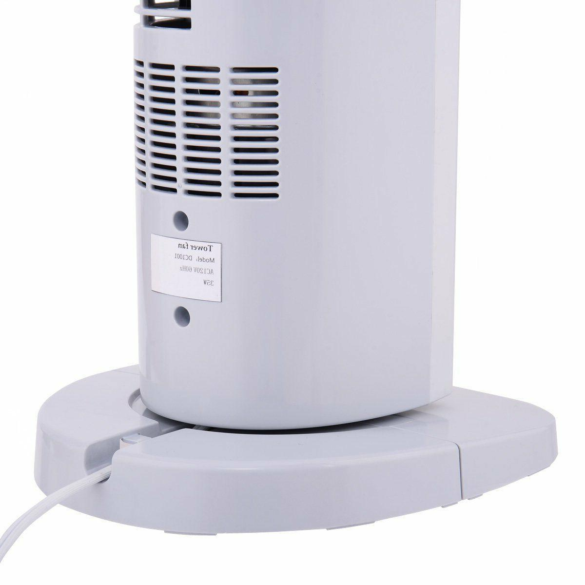 3-Speed Oscillating Tower Fan Cooling Air Conditioner Portable Floor
