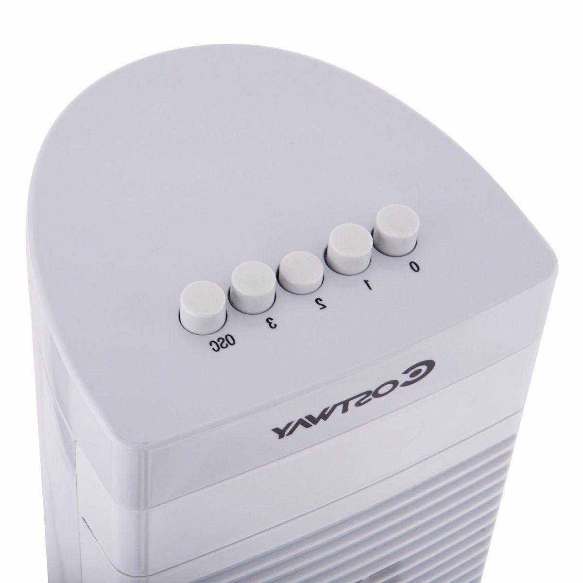 3-Speed Bladeless Oscillating Fan Air Conditioner Portable Floor